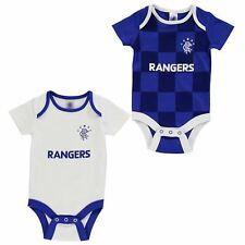 GLASGOW RANGERS Team Football Body Vest Set Baby Boys 0- 3-6-9-12-18 mths New