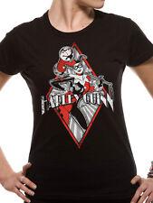 Official T Shirt BATMAN- HARLEY QUINN DIAMOND Black Womens Licensed Merch New