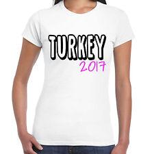 Turkey 2017 Holiday - Ladies T shirt - Tour Hen Clubbing