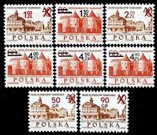 POLAND 1972 **MNH SC#1919/26 surch. NEW DENOMINATIONS