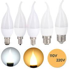 LED Flame Chandelier Bulb 3W E12 E14 B22 E26 E27 Candle SMD 110V 220V SMD Lamp