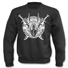 Pullover Wikinger mit Raben und Schwert, Sweatshirt