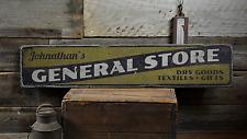 General Store, Custom Shop Owner Name - Rustic Distressed Wood Sign ENS1001397