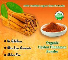 Organic Real Ceylon (Sri Lanka) Cinnamon Powder , ALBA Grade, Freshly Packed