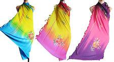 Handpainted tie-dye sarong scarf beach cover up/pareo swimwear summer bright new