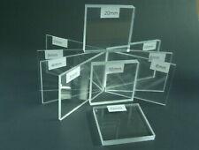 Klar PLEXIGLAS® Acrylglas 240a Flächen bis 10mm Zuschnitte Scheiben Platten
