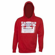 Budweiser Classic Label Hoodie Sweatshirt Red