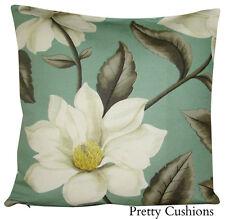 Sanderson Grandiflora Teal & Cream Cushion Cover