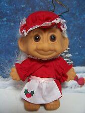 "CHRISTMAS GRANDMA / MRS CLAUS - 3"" Russ Troll Doll - NEW IN ORIGINAL WRAPPER"