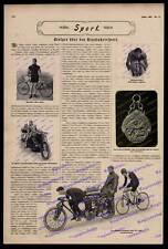 Radrennen Steglitz Robl Demke Arend Steher Fahrrad Brennabor Motorrad Velo 1907