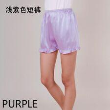 Women's Satin Panties Shorts Slip Pumpkin Bloomer Underpants Under Sleepwear