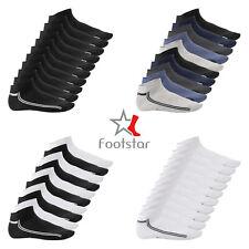 Footstar - Damen & Herren - 10 Paar SNEAK-iT! Sneaker Socken mit Streifen