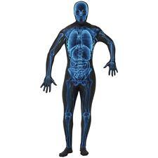 X-Ray Skeleton Suit Bodysuit Costume Adult Halloween Fancy Dress