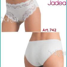 6 Slip Jadea Cotone modal pizzo Art.742 Slip Bianco Nero 3 4 5 6 Intimo sex
