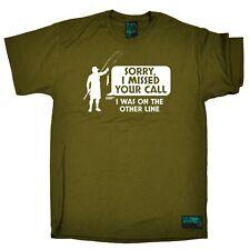 Camiseta De Pesca-yo estaba en otra línea-Varilla De Pescado Carrete Gracioso Cumpleaños Camiseta