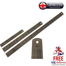 Governanti in acciaio inox regola LAMIERA metrica UK Engineering tabella di conversione