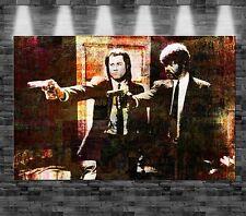 XXL Pulp Fiction auf Leinwand 110x70cm Design Bild Film Travolta