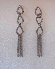 Stunning Triple Teardrop Crystal Statement Earrings  - Pierced or Clip-on