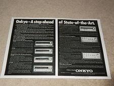 Onkyo Verstärker, Tuner AD, A-7, A-5, T-9, TX-8500, 4500,2500, Spezifikationen, Info, 2 Seiten