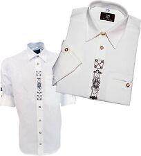 Trachten camisa camisa con aplicaciones + bordada 1/1 brazo Oktoberfest os-TRACHTEN