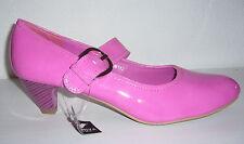 High Heels Pumps Schuhe pink Rock Slipper Lackleder-Optik rosa 36 37 38 39 40 41
