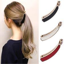 Banana Hair Clip With A Crips And White Stone Fashion Accessories Teeth Hair uk