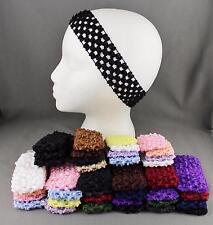 4 pack crochet wide headband soft sport stretchy ouchless ballet dance ballerina