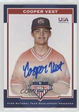 2017 Panini USA Baseball Stars & Stripes #24 Cooper Vest Auto Autographed Card