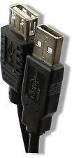 USB 2.0 Extension Extender Câble Noir Plomb 12cm 25cm 50cm 1m 1,8 m 3m 5m UK nouveau