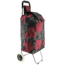 Pliage Shopping Chariot en acier chromé cadre à roulettes panier épicerie Sac