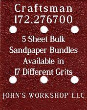 Craftsman 172.276700 - 1/4 Sheet - 17 Grits - No-Slip - 5 Sandpaper Bulk Bundles