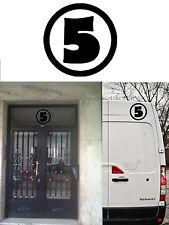 NUMBER 5 sticker vinyl cut Ver IV. FIVE CINCO. Vinilo adhesivo número 5