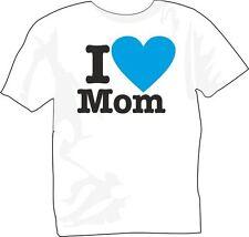 T-Shirt girocollo manica corta bambino B0007 Kids I love mom Amo la mia mamma