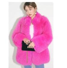 Womens Rabbit Fur Furry Stand Collar Thicken Coat Warm Winter Long Parkas Luxury