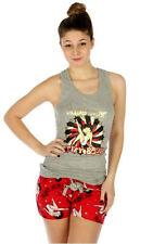 "Betty Boop ""Super Star"" Short Pajama Set, Cotton, Grey/Red, S, M, L, XL"