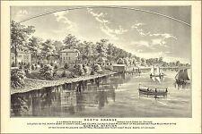 Poster, Many Sizes; Map Of North Grange Illinois 1885