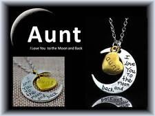 I LOVE YOU to the Moon & Indietro Zia Nonna Mamma Figlia Collana con Sacchetto Regalo