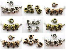 NEW! 30 pcs X Style Tibetan Silver Copper Bronze Bail Beads For European Jewelry