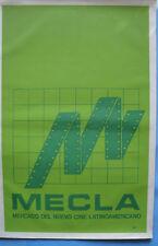 ICAIC SILKSCREEN MECLA Film MOVIE Poster M Bachs Green Original CUBA CUBAN