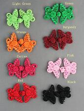 Bottoni con Perline a Forma di Farfalla 8 Colori Diversi