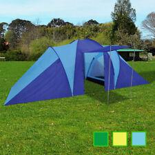 Tente de camping randonnée 6 Personnes Bleu clair / Vert / Jaune
