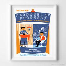 Disneyland Poster Carousel of Progress Attraction Disney World NO FRAME