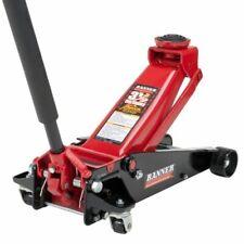Black/Red Fast Lift Service Jack 3.5 Ton Capacity Jacks Stands Tools Motors