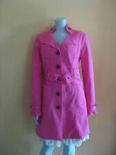 BLANC NOIR HOT PINK TRENCH BELTED  coat jacket   LARGE