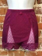Rhonda Shear Mulberry Pink Mesh Dot Pin-Up Retro High Waist Panties New