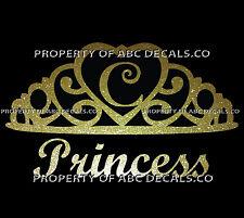 VRS Crown Royal Tiara Queen Princess Heart Love Custom INITIAL C Car Metal Decal