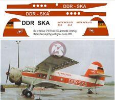Peddinghaus 1/72 Antonov An-2P Markings DDR-SKA Interflug (for Trumpeter) 917