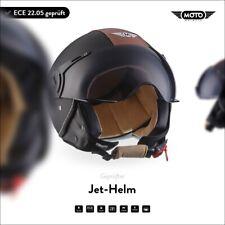 JET VESPA RETRO SCOOTER OPEN FACE Motorcycle MOTO Helmet H44 Vint. B XS S M L XL