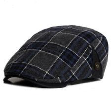 Mens Gatsby Newsboy Flat Baker Sunhat Caps Gatsby Golf Hats Check Cabbie Beret