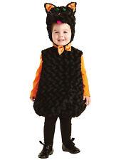Black Cat Girls Child Furry Animal One Piece Halloween Costume